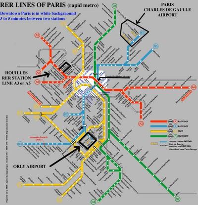 Plano del metro de París