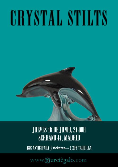 Póster Crystal Stilts, Madrid 16 junio 2011