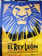 Cartel del musical de El Rey León en Madrid