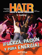 cartel promocional del musical Hair
