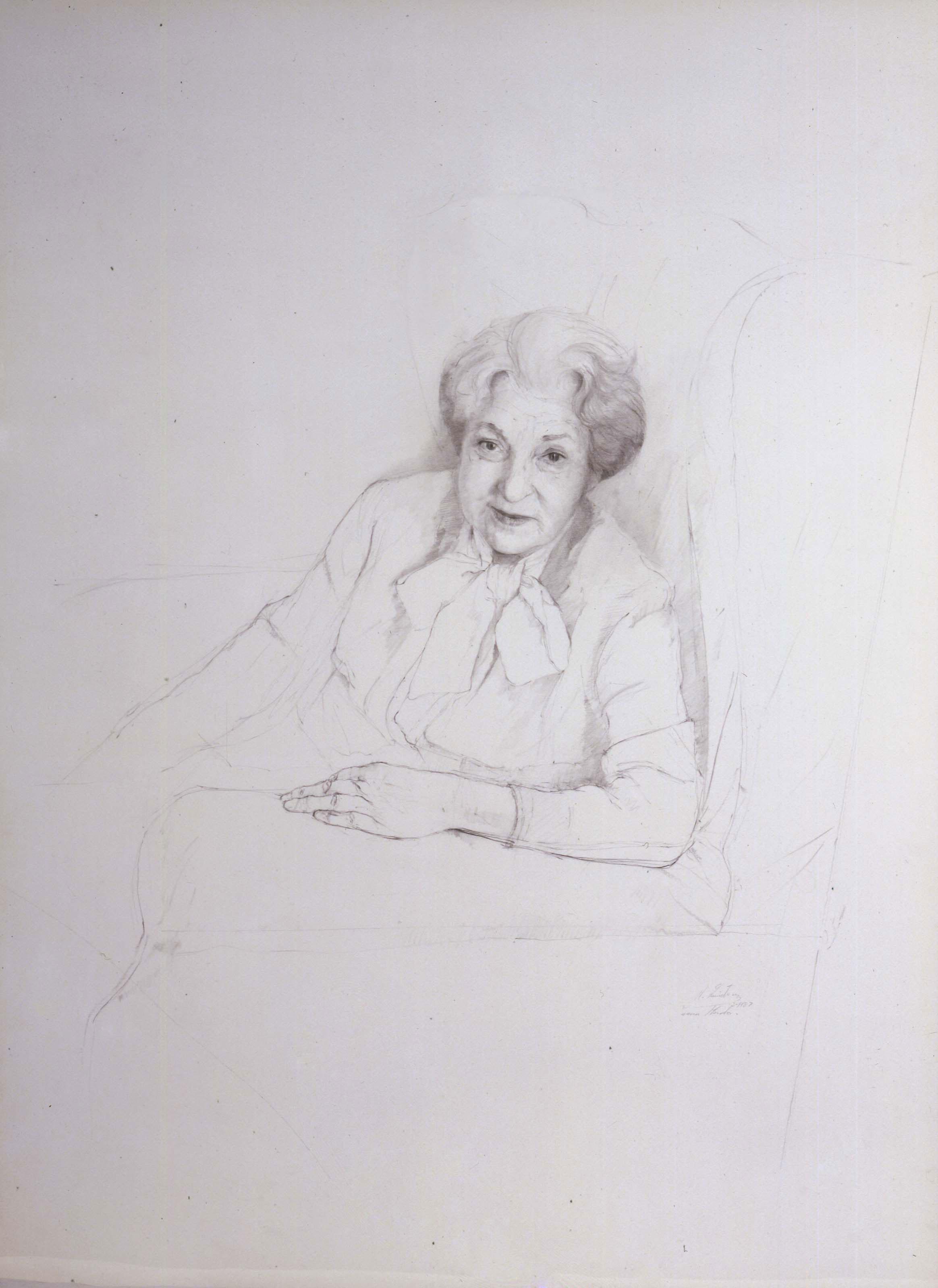 Retrato de Juana Mordó por Daniel Quintero