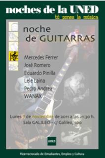 Concierto de guitarras en la sala Galileo