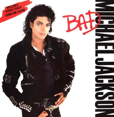 Michael Jackson. Portada de Bad