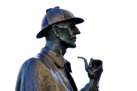 Statue of Sherlock Holmes outside Baker Street tube station in Central London. FUENTE: Fotopedia.com