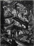 Cárcel. Carceri d'Invezione (hacia 1761) de Giovanni Battista Piranesi. Fuente: Wikipedia
