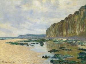 Monet, Marea baja en Varengeville (1882)