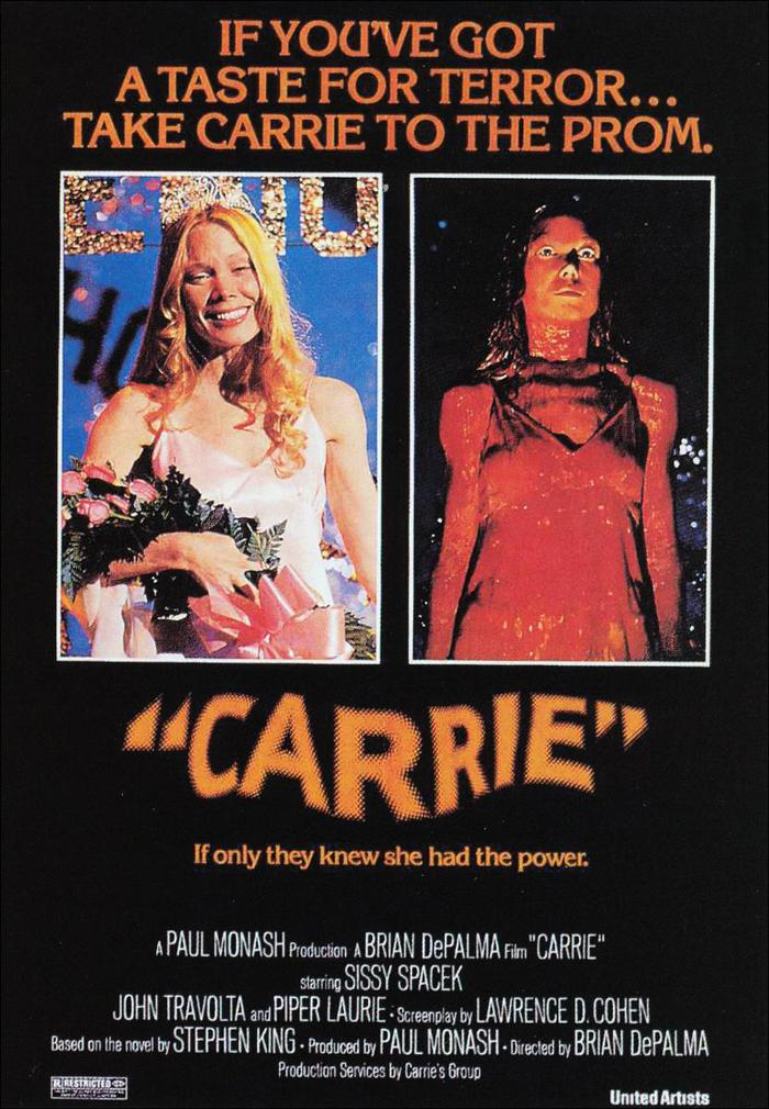Cartel de la película 'Carrie', realizada por Brian De Palma en 1976.