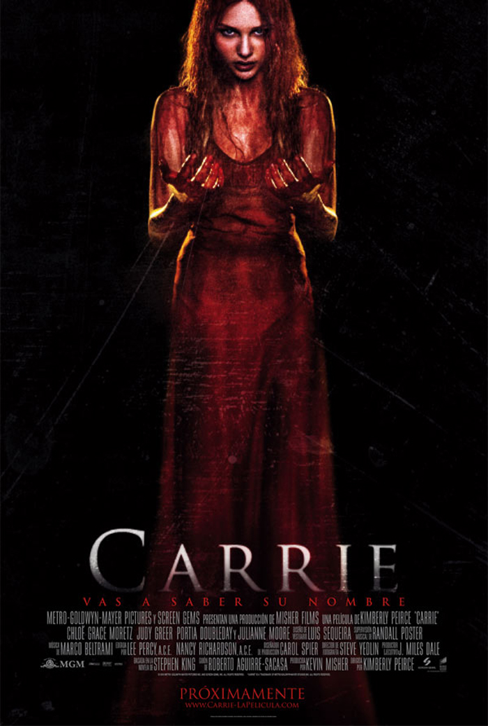 Cartel del remake de 'Carrie', realizado por Kimberly Pierce.'