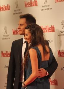 El presentador junto a su mujer, la ex gimnasta