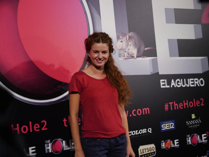 La actriz Marian Aguilera posó sonriente ante la prensa.