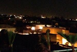 Anochecer en el centro de Marruecos