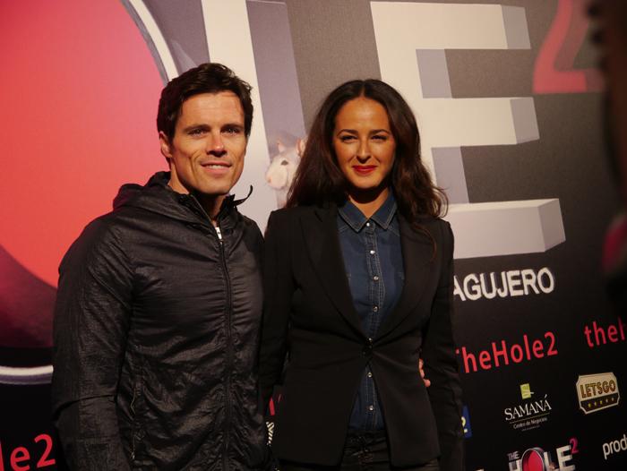Mónica Estarreado y Octavi Pujades en el estreno de 'The Hole 2'.