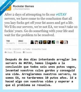 Tweet GTAV. Fuente: vistoenlasredes.com