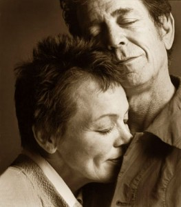 Lou Reed junto a Laurie Anderson