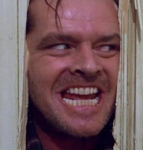 Jack Nicholson en la película El resplandor de Stanley Kubrick