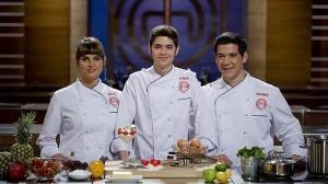 Eva, Fabián y Juan Manuel fueron los tres finalistas de 'MásterChef'.