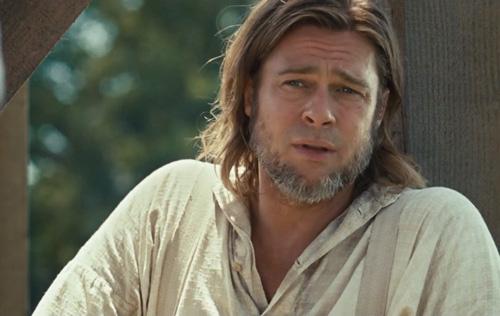 """Brad Pitt, 9 veces nominado al Oscar, este año no, pero sí la película que interpreta """"12 años de esclavitud""""-Fuente:siguealconejoblanco"""