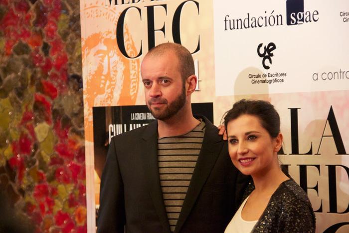 El director Fernando Franco y la actriz Marian Álvarez en el photocall de los Premios CEC