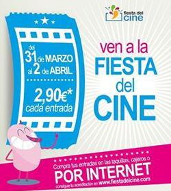 """Cartel promocional de la """"Fiesta del cine"""""""