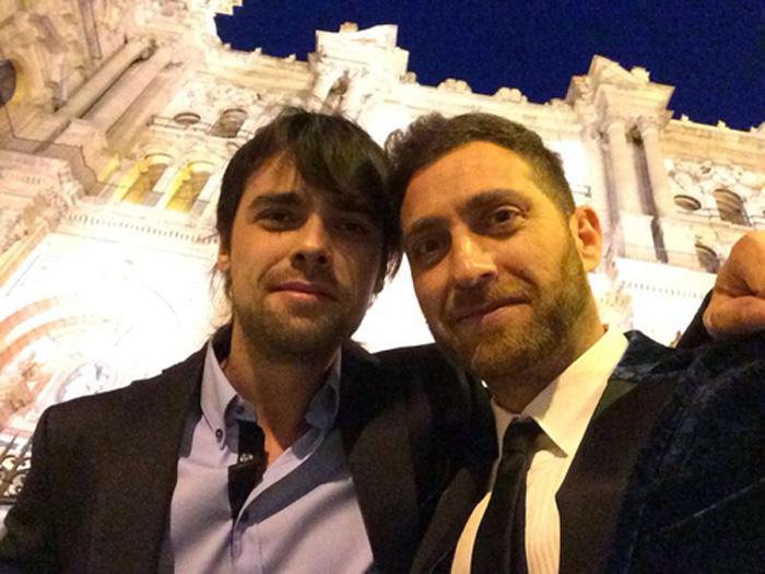 """Jorge Páez (Iván) y Xoel Fernández (Carlos), dos de los actores principales de """"La Cueva"""", film de Alfredo Montero"""