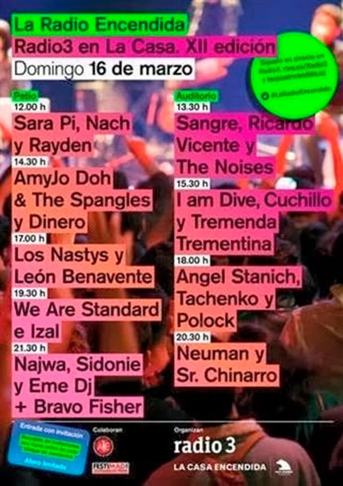 Cartel de la XII del Festival 'La Radio Encendida'-Fuente: Europapress.net