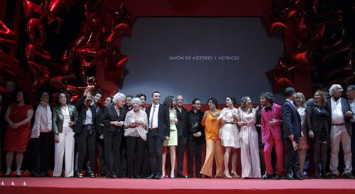 Galardonados en la XXIII edición de los Premios Unión de Actores y Actrices-Fuente: EFE
