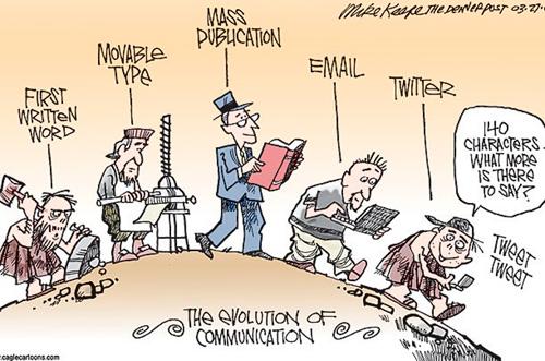 Evolución de la comunicación-Fuente: blog Maisa14