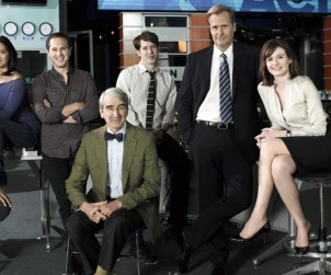 Foto promocional del reparto de 'The Newsroom'