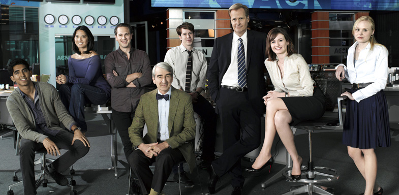 Foto promocional del reparto de 'The Newsroom'