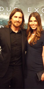 El actor Christian Bale y su esposa