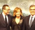 El embajador de EE.UU, James Costos junto al productor americano, Peter Chernin
