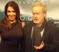 El director Ridley Scott y su esposa