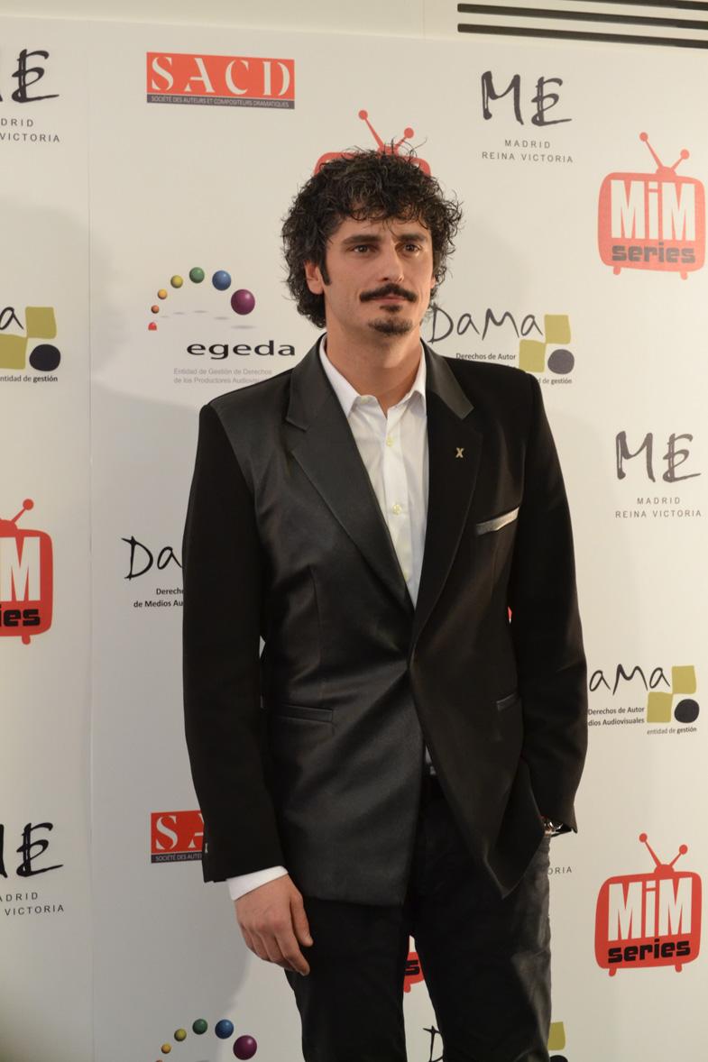 El actor Antonio Pagudo en los Premios del Festival de Series MIM 2014