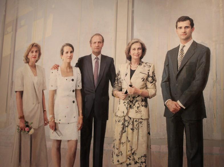 Familia Juan Carlos I Antonio López