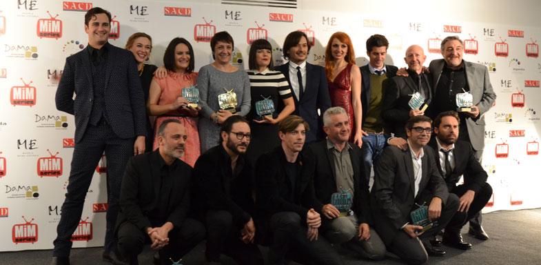 Foto de los premiados en la Gala MIM Series 2014