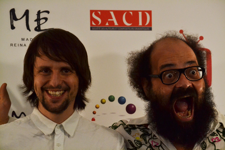 Los cómicos Ignatius Farray y Miguel Esteban en los Premios MIM Series 2014