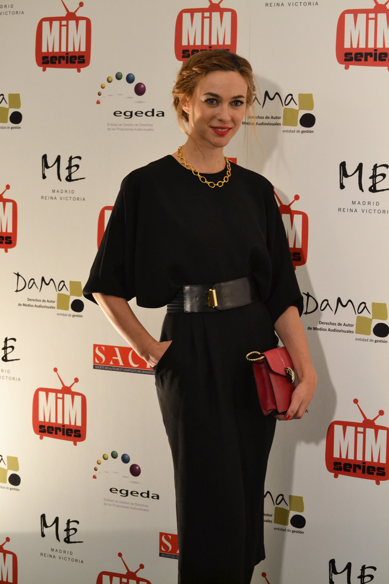 La actriz Marta Hazas posando para el photocall en los Premios del Festival de Series MIM 2014