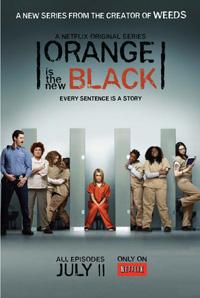 Cartel promocional de la serie revelación de Netflix, Orange is the New Black