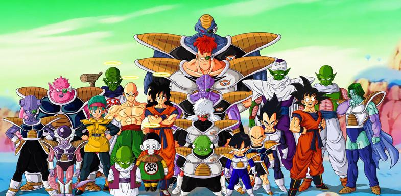 Imagen de los personajes de la serie Dragon Ball Z