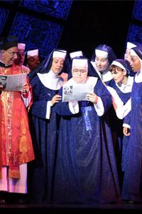 Escena del musical Sister Act