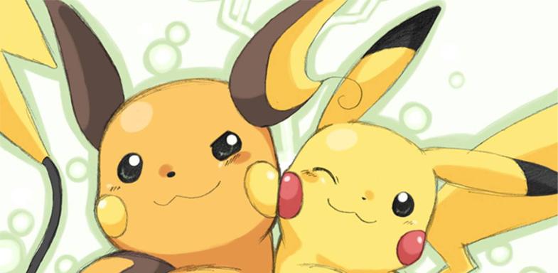 Pikachu y Raichu en una foto de la serie Pokemón