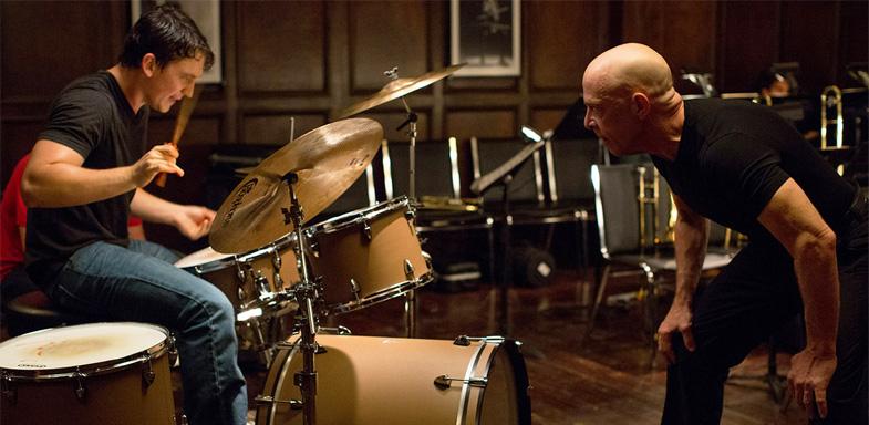 Miles Teller y J.K. Simmons en una escena de la película 'Whiplash'