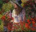 Jane Seymour: Por más que su carrera le haya deparado dos Globos de Oro, mentiríamos si dijésemos que la actriz de La doctora Quinn ha apostado alguna vez por el riesgo. Esa es una verdad que se aplica tanto a su trabajo en la pantalla como a una trayectoria en las artes plásticas. Y es que además de pintora, Seymour también es escultora, amén de diseñadora de moda y joyería. En lo que al lienzo se refiere, su carácter blandito se percibe en su emulación de los maestros del Impresionismo, como queda patente en esta obra titulada Retrato de una artista en su jardín.