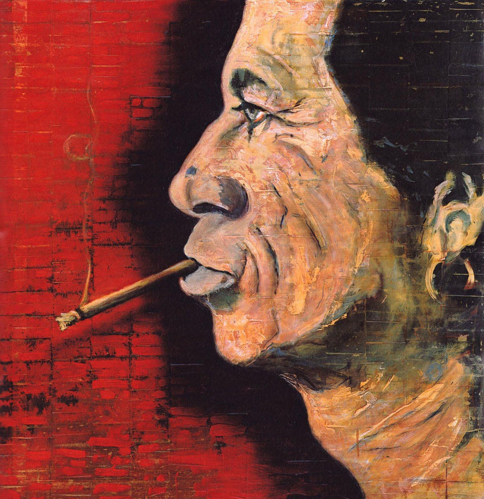 """Johnny Depp: Es el actor fetiche de Tim Burton y músico mucho antes de ser actor. Pero también es un pintor de estimable talento, muy influido por el expresionismo abstracto, aunque su estilo no puede encasillarse en una sola corriente. Es conocido sobre todo por sus habilidades como retratista: """"Lo que me encanta es pintar los rostros de las personas"""", ha dicho. Su obra pictórica incluye a personajes como el actor y dramaturgo Antonin Artaud y amigos como Keith Richards, Julian Schnabel, Marlon Brando o, cómo no, él mismo y su familia."""