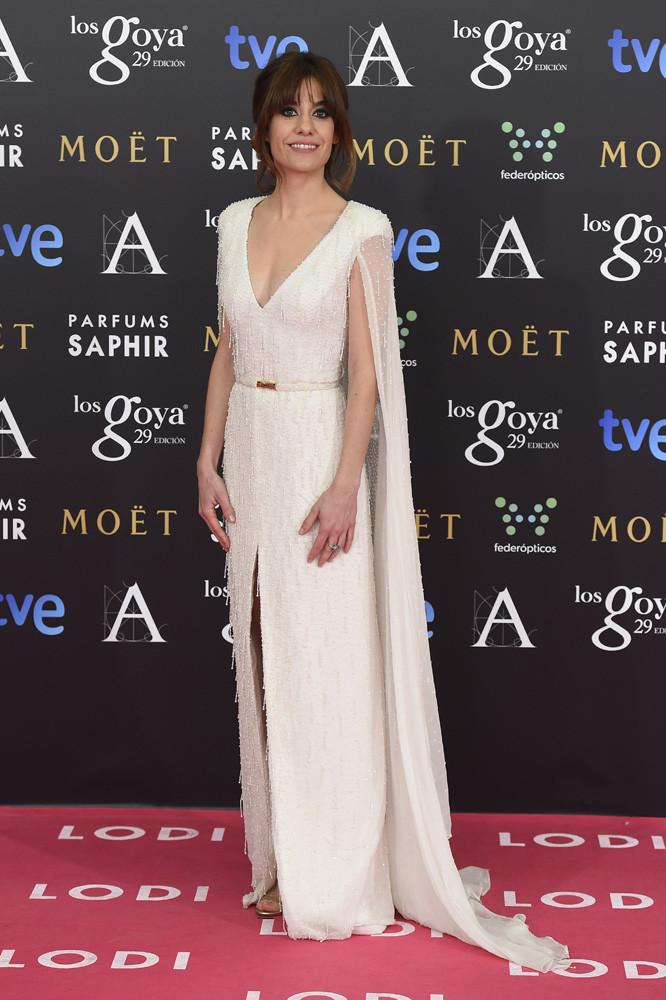 La actriz Alexandra Jímenez en los Goya 2015