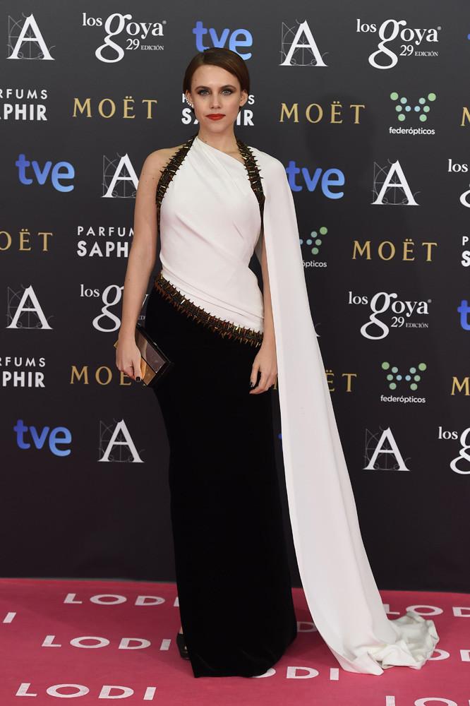 La actriz Aura Garrido en los Goya 2015