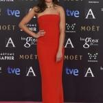 La actriz Hiba Abouk en los Goya 2015