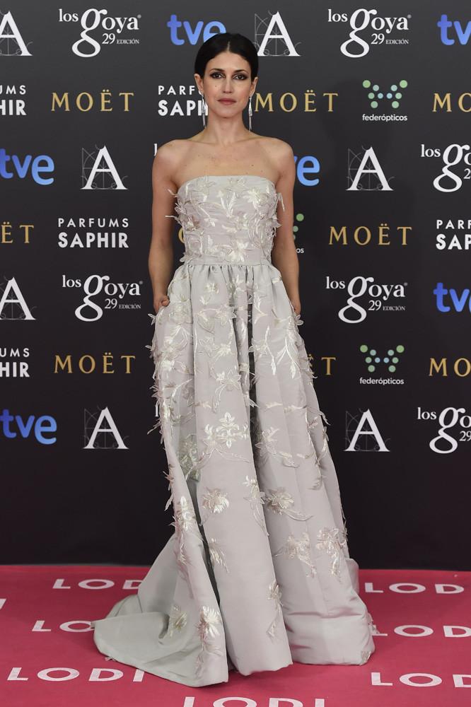 La actriz Nerea Barros en los Goya 2015