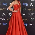 La actriz Toni Acosta en los Goya 2015