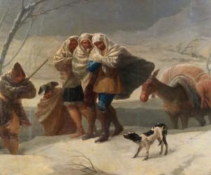 """""""El invierno o La Nevada"""" de Goya"""